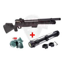 Rifle Aire Pcp Kral Puncher Mega Regulable Caza + Mira Zoom