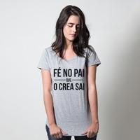 CAMISETA CINZA - FÉ NO PAI