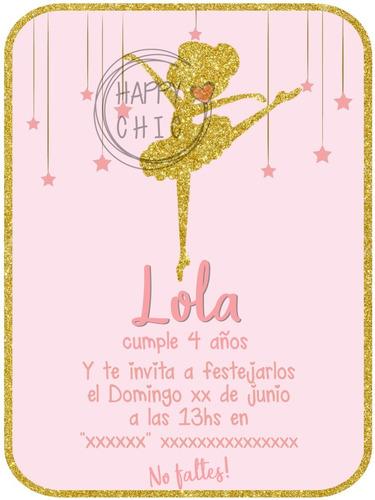 Invitación Digital De Cumpleaños Bailarina Ballet En Venta