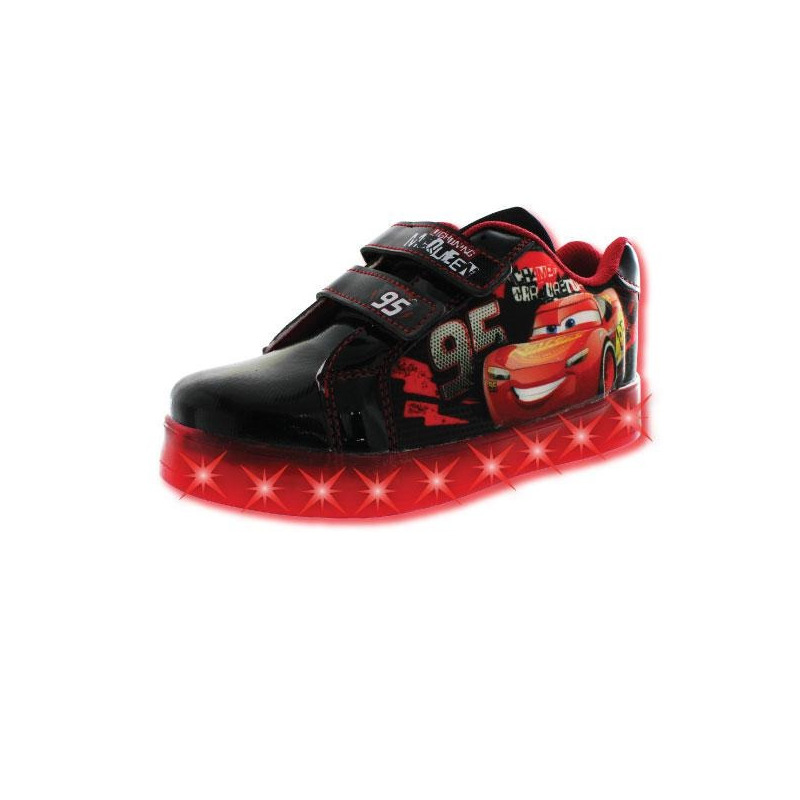 Sneakers Cars negros con luces T03516
