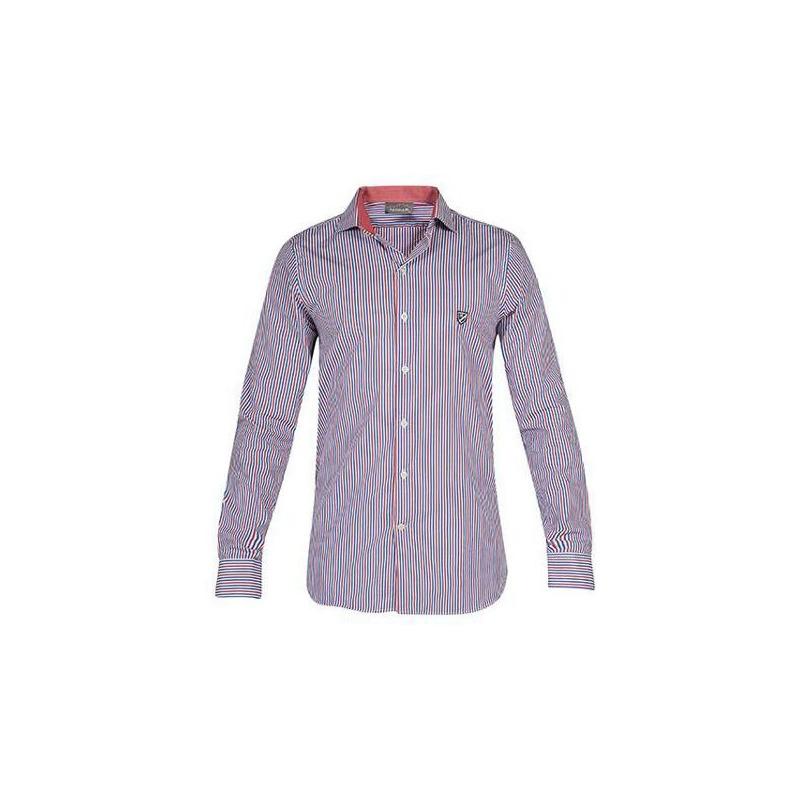 Camisa multicolor manga larga 013223