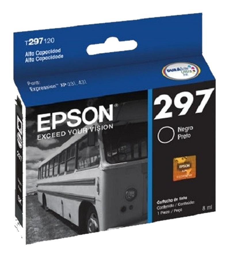 Cartucho De Tinta Epson 297 Negro Para Xp231/431 T297120-al