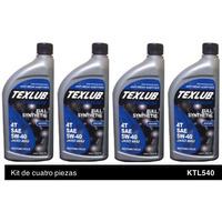 Texlub 4 Tiempos, FS, JASO MA2 5W40 Kit de 4p
