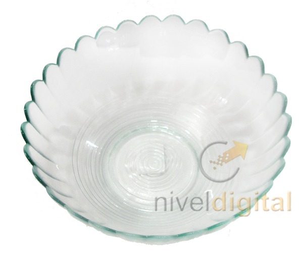 Bowl Ensaladera Gde 1 80 Lts Vidrio Transparente Fino Diseño