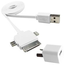 Cargador Con Cable 3 En 1 Micro Usb Lightning 30 Y 8 Pines