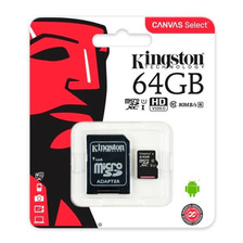 Tarjeta De Memoria Sd 64gb Clase 10 Canvas Select Adaptador