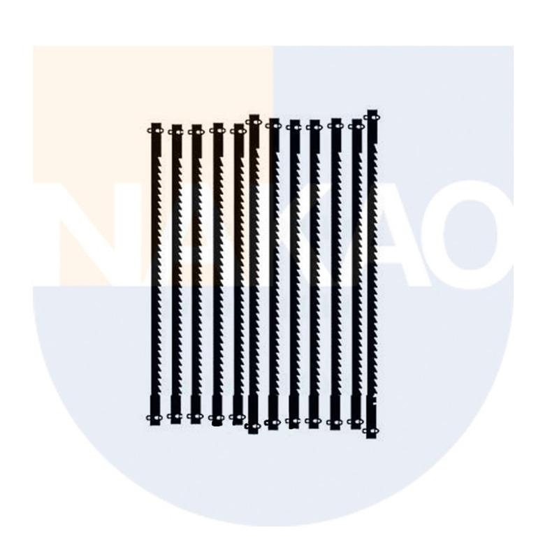 Kit 12 Lâmina de 127mm c/Pino de Passo Médio - 28743 - Proxxon