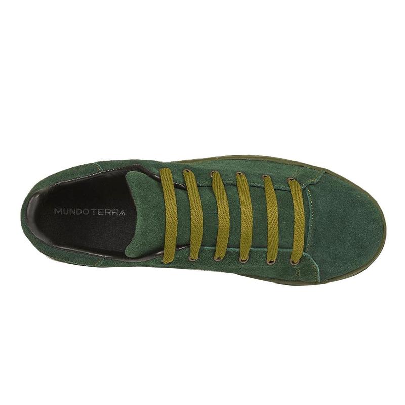 Sneakers verdes de gamuza 018713