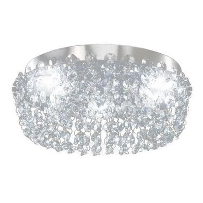 Lampara De Techo Aplique Con Cristales Led Integrado 4w