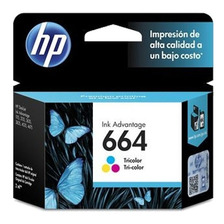 Cartucho Hp 664 Color Original 1115 2135 3635 4535 4675