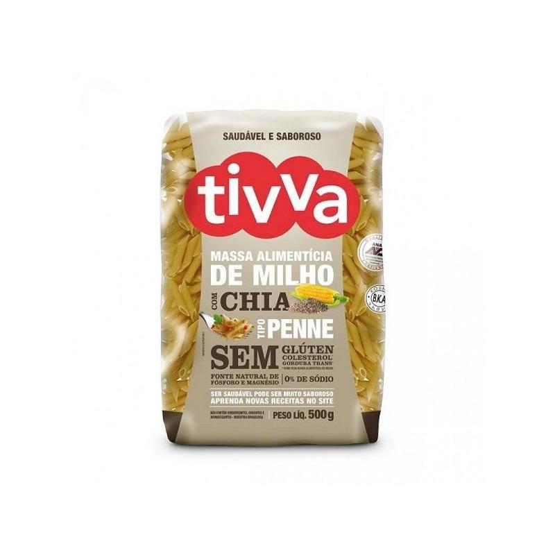 Macarrao Penne de Milho com Chia Sem Gluten - 500g - Tivva