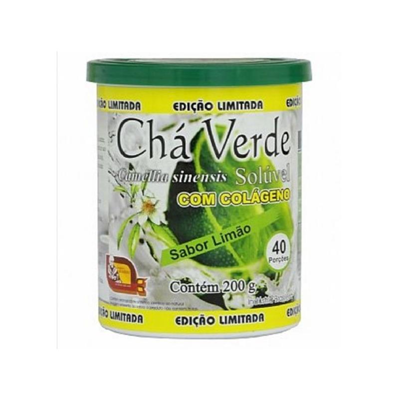 Cha Verde com Colageno Sabor Limao 200g - Mosteiro Devakan