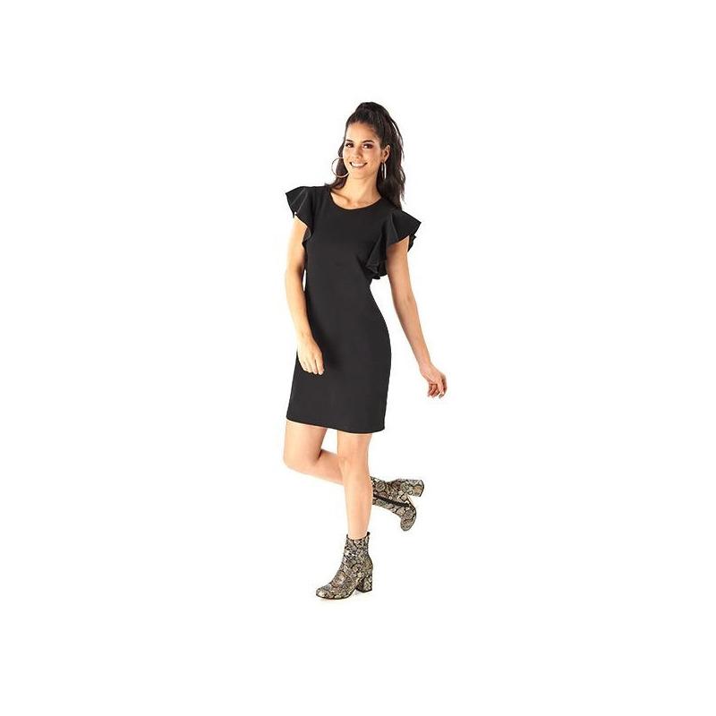 Vestido corto negro 019229