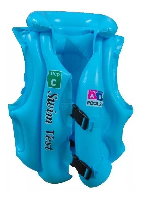 Chaleco Plástico Inflable  C  Niños 3 A 5 Años Playa Pileta