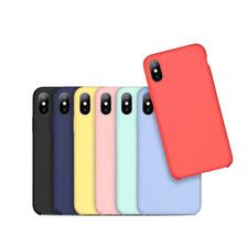 Funda Silicona Suave iPhone 6 6s 7 8 Plus X Xs + Glass 5d