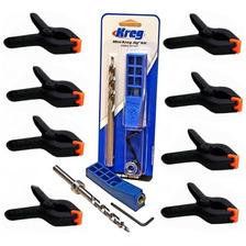 Sistema De Ensamblaje Kreg Jig Mini Mkjkit + 8 Clamps 3 Pulg