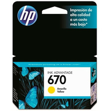 Cartucho Hp 670 Amarillo Original P/ 3525 4625 5525