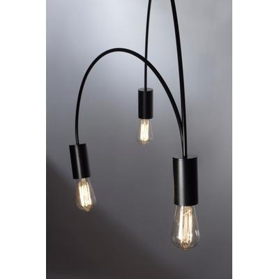 Colgante 3 Luces Piperi Negro Vintage Apto Led Moderno Lk