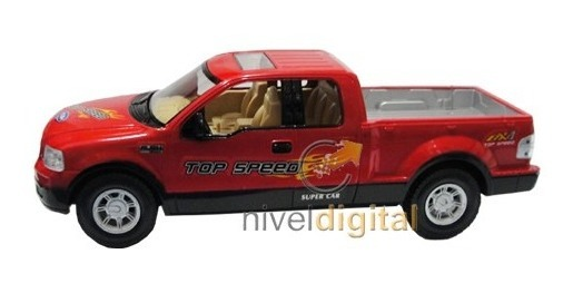 Camioneta Pick Up Doble Cabina Luces Radio Control Esc 1/16