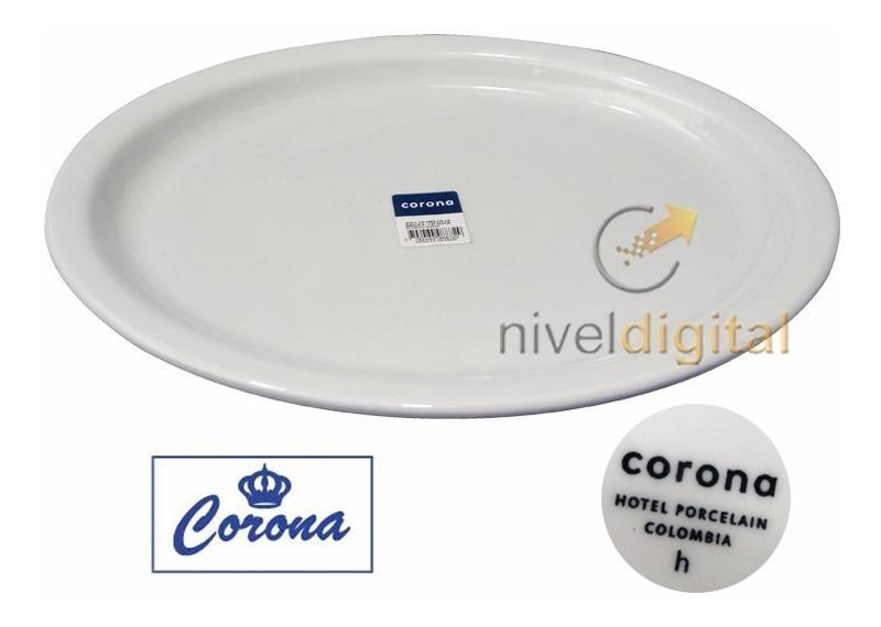 Bandeja Ovalada 27 5 X 34 Cm Porcelana Corona Actualite