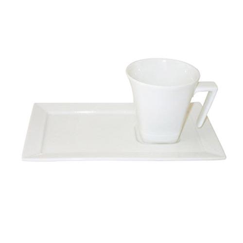 Taza 200 Ml Porcelana Blanc Plato Rectangular Oxford Te Cafe
