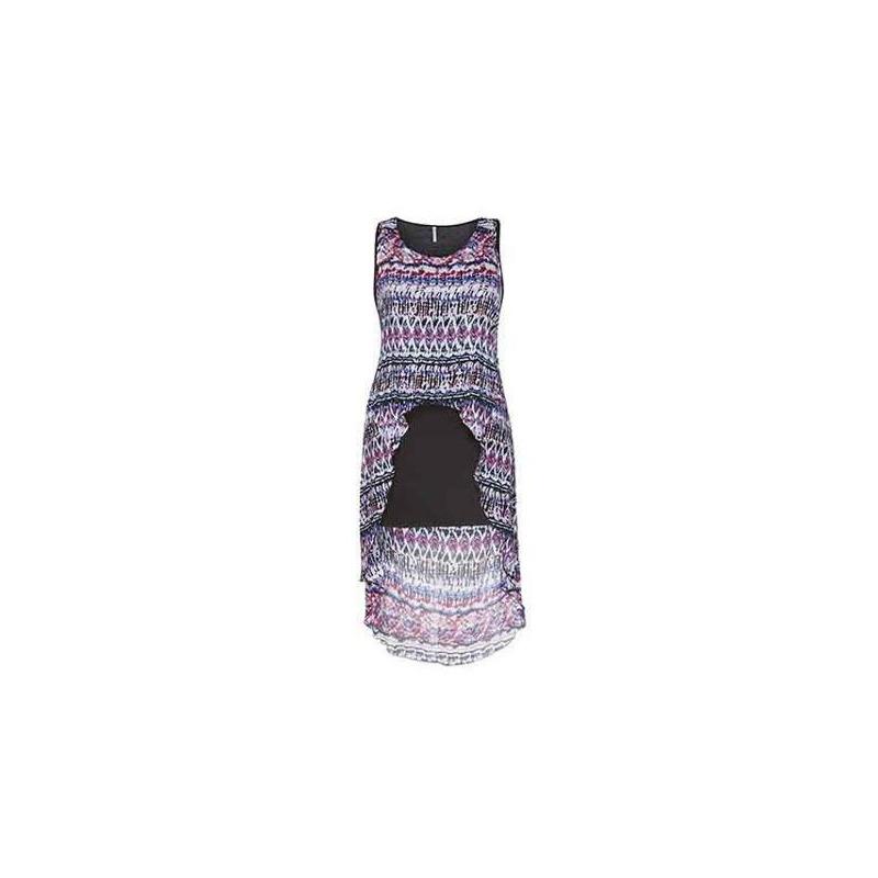Vestido corto multicolor abierto al frente 010875
