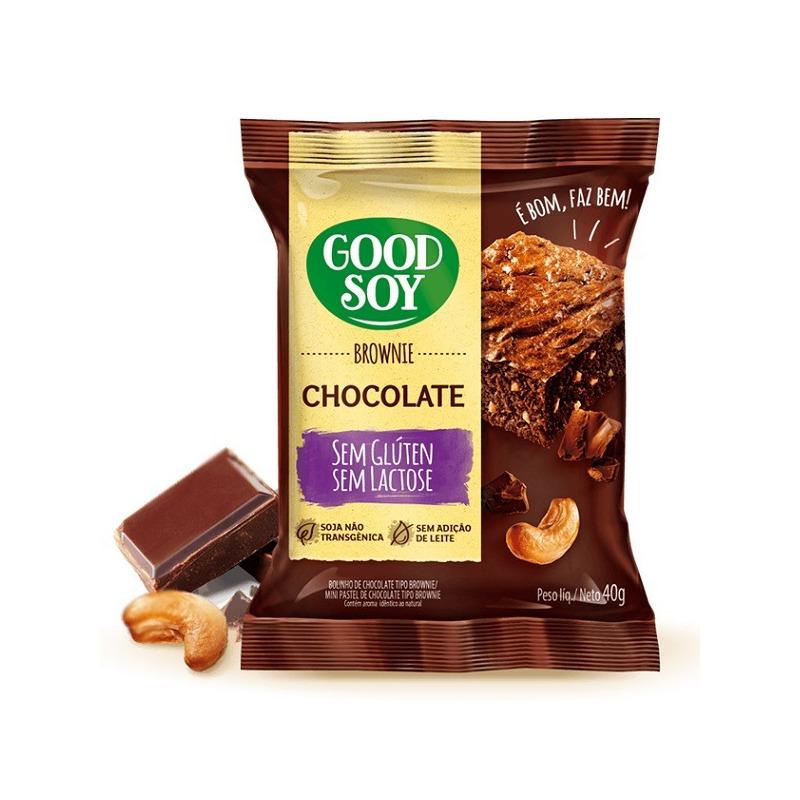 Brownie de Soja e Chocolate Sem Gluten - 40g GoodSoy
