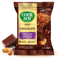 Brownie de Soja e Chocolate Sem Gluten - 40g GoodSoy