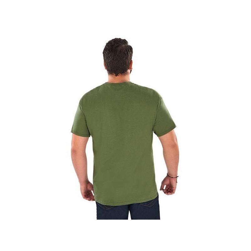 Camisa olivo con estampado  014633P