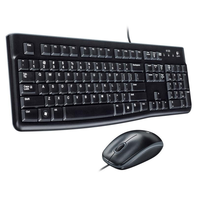 Kit de Teclado y Mouse Logitech MK120 Alámbrico