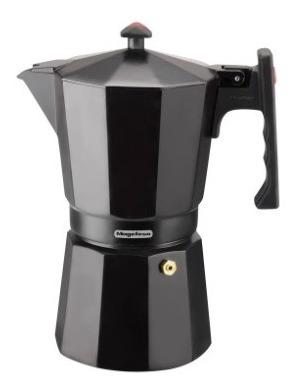 Cafetera Magefesa Aluminio Negra 9 Pocillos Colombia Noir