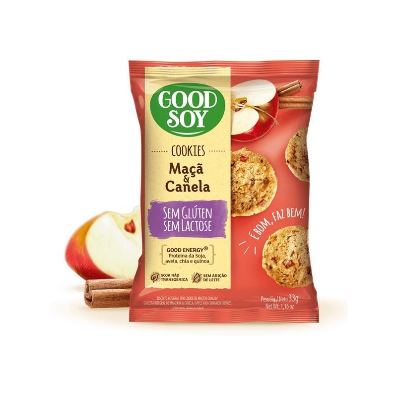 Cookies Soja Maca, Canela e Passas S/ Gluten 2X16g GoodSoy