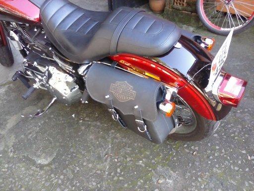 Rider Classic Alforge Lateral Harley Dyna Esquerdo PRETO HD