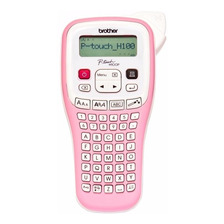 Rotuladora Manual Brother Pt-h100p Pink Cinta Laminada