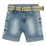 Bermuda Jeans com cinto Crawling