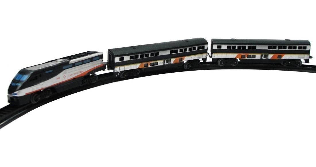 Tren Alta Performance Negro Locomotora + 2 Vagones Accesorio