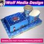 Bandejas + Caja Hamburguesa + Vaso + Sorbete + Papas Fritas | WOLF MEDIA DESIGN