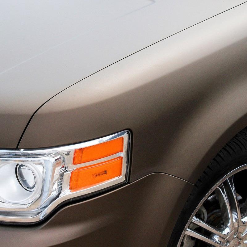 Adesivo para envelopamento automotivo jateado brown metallic  larg. 1,38 m