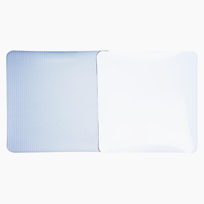 Lona pvc para frontlight Superfront branca brilho avesso cinza (440 g) larg. 2,20 m