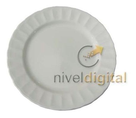 Set De 4 Platos Playos Porcelana Corona Caribe Fino Diseño