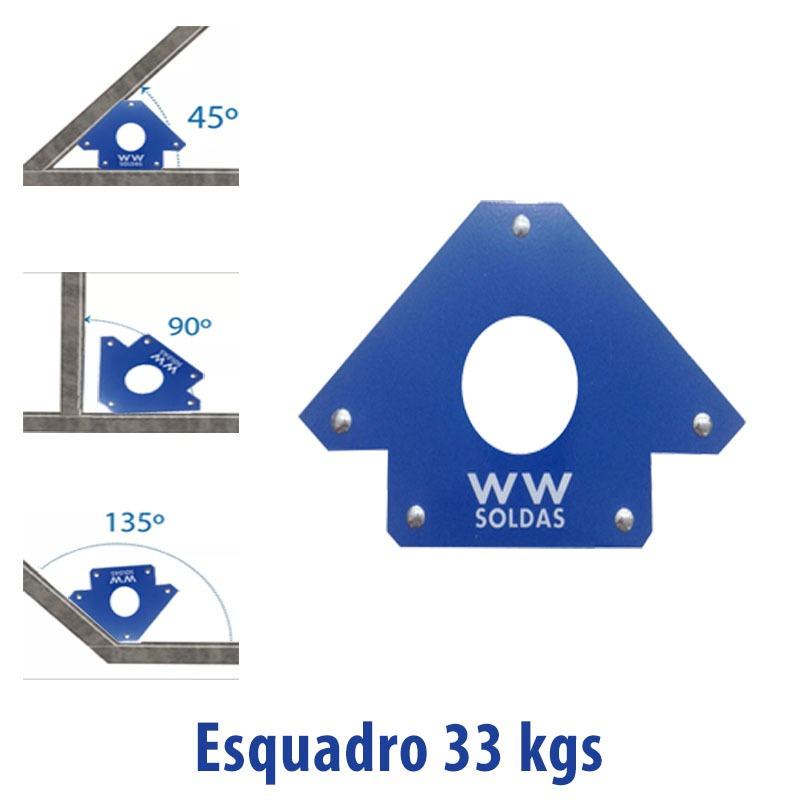 ESQUADRO MAGNETICO 33KGS/75LBS