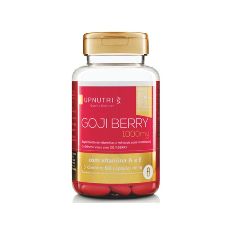 GojiBerry com Vitaminas e Zinco - 60 Caps. 1000mg - UpNutri