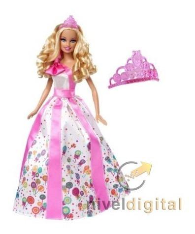 Barbie Feliz Cumpleaños Happy Birthday Corona Peineta Mattel