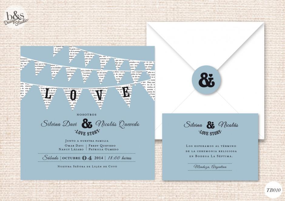 Invitación casamiento TB010