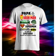 Remeras Estampadas Dia Del Padre Super Papá