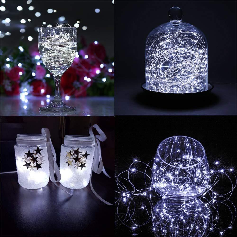 Luces Tipo Boton Micro Led 1 Mts Alambre 10 Led Decorativa