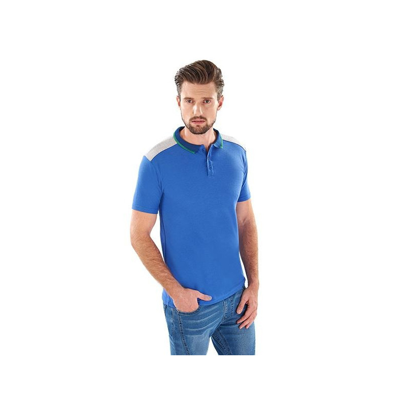 Camisa azul manga corta 014615