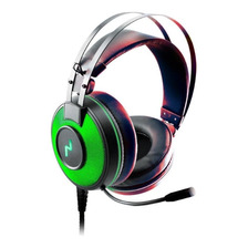 Auricular Gamer 7.1 Usb Microfono Led Verde Bass Vibration Ps4 St-rage Noga