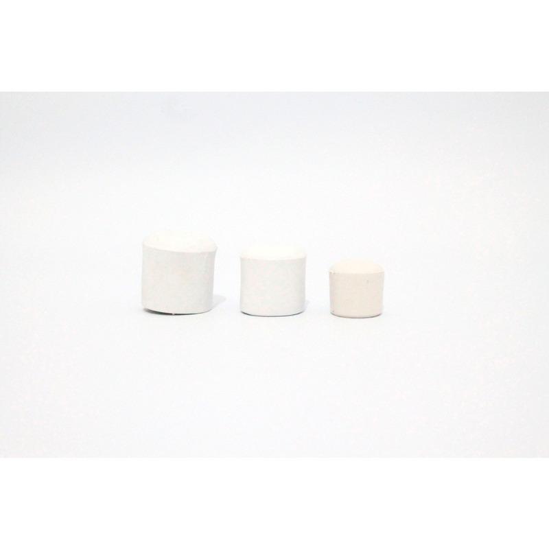 Ponteira pequena 5/8  ou 16 mm branca pacote com 100 unidades