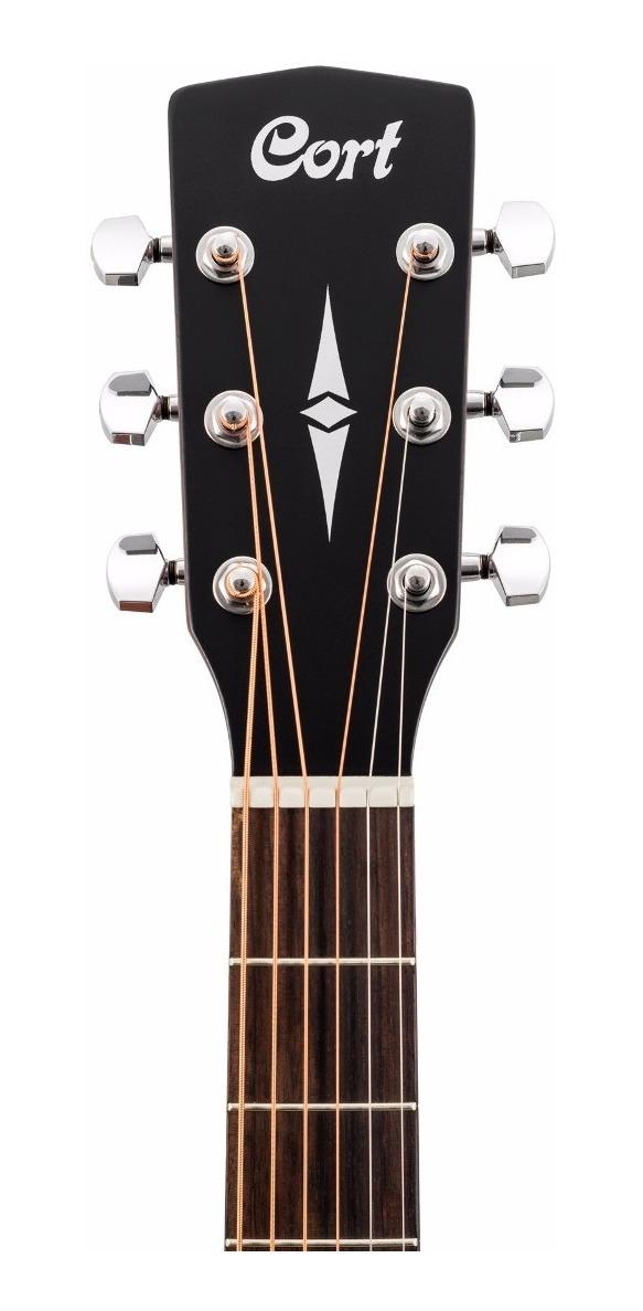Guitarra Acustica Cort Ad-810 Op Con Funda - Grey Music -